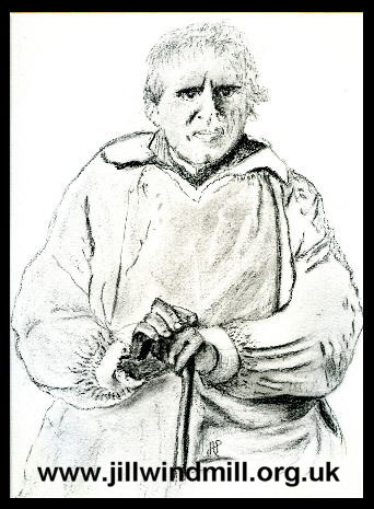 from an original charcoal portrait by Ann Pumphrey  : Jesse Pumphrey - Millwright