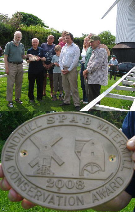 Presentation of SPAB plaque to Jack and Jill Windmills Society - photos by Philip Hicks and Paul Barber