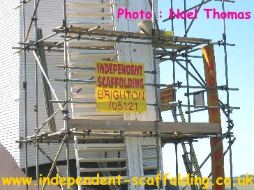 Scaffolding by Independent Scaffolding of Brighton, Photo by Noel Thomas