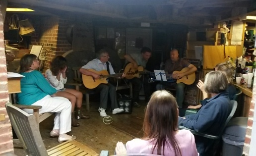 A celebration with music for Steve Barrett's retirement, held at Jill Windmill