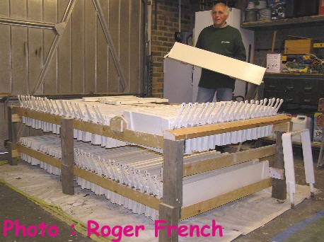 Shutters on racks - Photo : Roger French