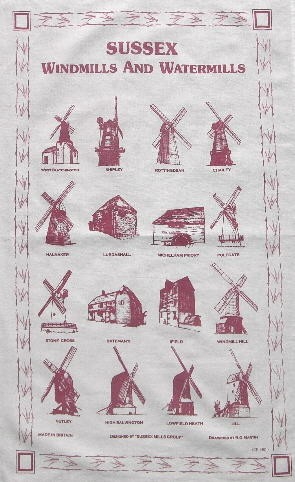 Sussex Mills tea towel